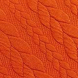 Schickliesel Jersey Stoff Meterware Zopfmuster (orange)