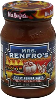 Mrs. Renfro's HOT Ghost Pepper Salsa 16.0 OZ(Pack of 3)