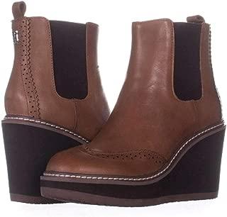 Womens Sirina Leather Closed Toe Ankle Fashion Boots