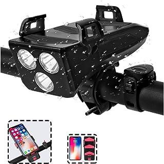 LED-Fahrrad-Licht-Nachtfahrten 5 Licht-Modi Highlight Fahrradbeleuchtung wasserdichte Anti-Glare-Aluminium Scheinwerfer USB Zyklus Lichter Lade HWUKONG Fahrradlichter
