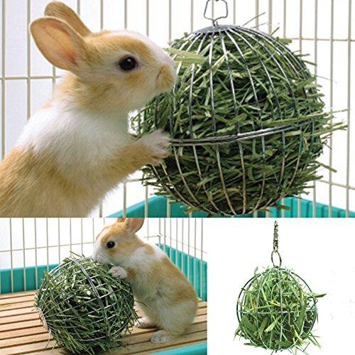 Pelota de acero inoxidable para mascotas hámster rata, conejos