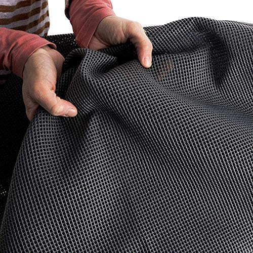Vorzeltteppich Soft 300x600 - ZUSCHNEIDBAR - ohne Ausfransen - formfest - weich - grau - leicht - waschbar - mit Aufbewahrungstasche - Heringe und Clips - Camping Wohnwagenteppich Vorzelt Unterlage