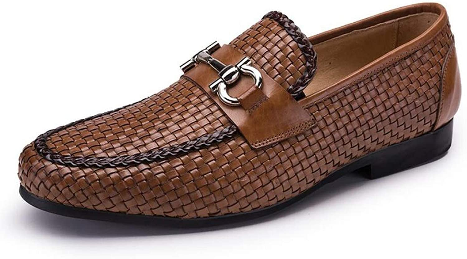 Classic Woven Leather Men's Business shoes Trendy Pointed shoes shoes Breathable Wear Work shoes