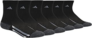 adidas Kids' - Boys/Girls Cushioned Crew Socks (6-Pair)
