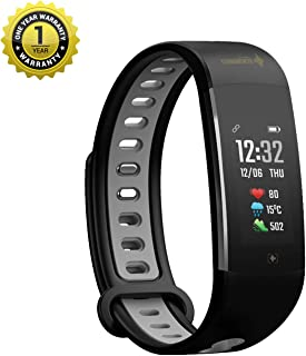 MevoFit Echo-Swim Swimming-Fitness-Band & Smart Watch for Fitness & Sports PRO Sporty-Fitness-Band, All Activity (Black_Grey)