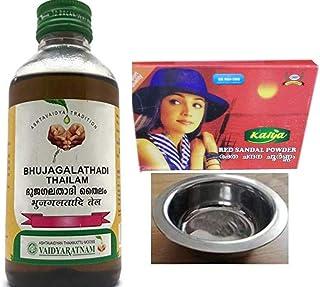Vaidyaratnam Oushadhasala Bhujagalathadi Thailam 200ml; With Free Kalya Red Sandal Powder - Skin Care Powder 25 Gm & Nimit...
