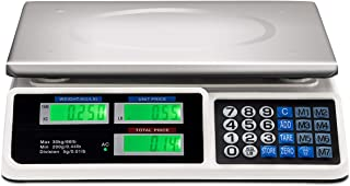 Safstar Electronic Price Computing Scale LCD Digital Commercial Food Meat Weighting Scale..