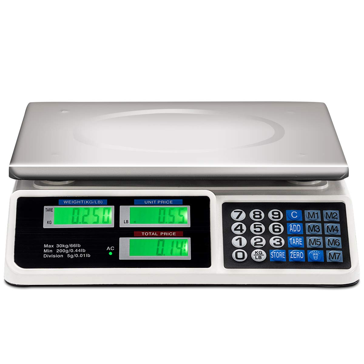 Safstar Electronic Price Computing Digital Scale specialty shop Denver Mall Commercial LCD