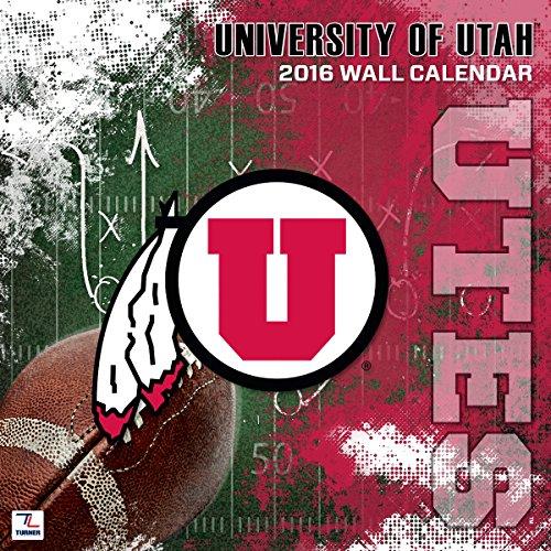 Turner Utah Utes 2016Team Wand Kalender, September 2015–Dezember 2016, 30,5x 30,5cm (8011824)