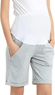 Maternity Bermuda Shorts Over The Belly Workout Loose...