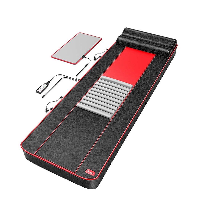 自殺浪費情熱的腰と背中の腰の救済のための全身多機能マッサージマットレス加熱マッサージパッド、(ブラック)186 * 60 cm