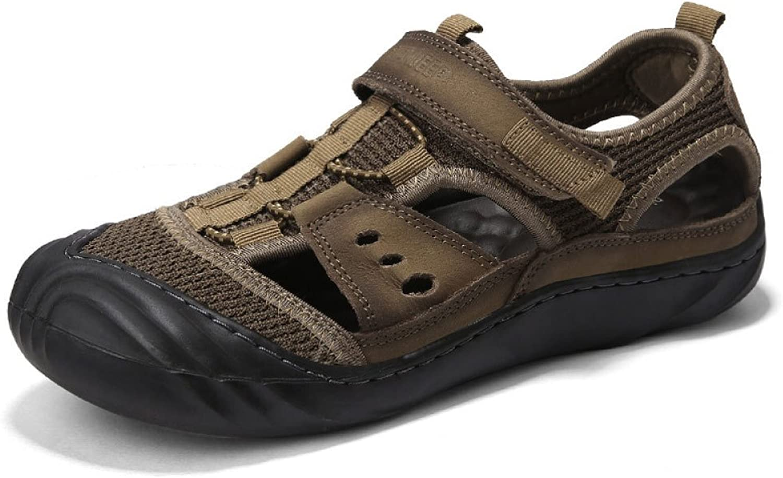 Sandalen Mode Herren Freizeitschuhe Im Freien Strand Schuhe Herrenschuhe,Kaki-38