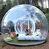 Inflatable Bubble Camping Tent 10ft Commercial Grade Outdoor Clear Dome Camping Cabin...