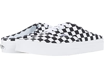 Vans Authentic Mule ((Checkerboard) Black/True White) Shoes