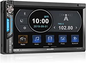 $64 » Double Din Digital Multimedia Touch Screen Car Stereo Receiver MP5 Player,aboutBit HD 7 inch LCD Phone Link Bluetooth  Front & Backup Camera Input  AM&FM Radio Subwoofer Output 7-Color