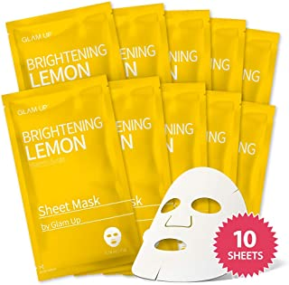 Sheet Mask by Glam Up Brightening Lemon (10 sheets)