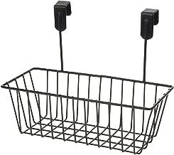 House of Quirk Over Door Kitchen Cabinet Storage Basket Undershelf Rack Holder Hanging Organiser - Black