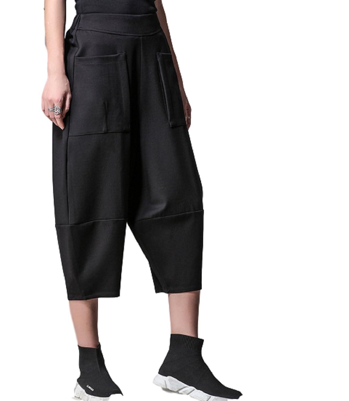 [セオヴェル]THEOVEL サルエル パンツ 黒 カジュアル カラー レディース スタイル 柄 おしゃれ