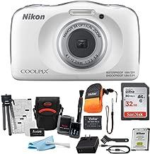 Nikon Coolpix W150 Digital Camera (White) with 32GB Card,...