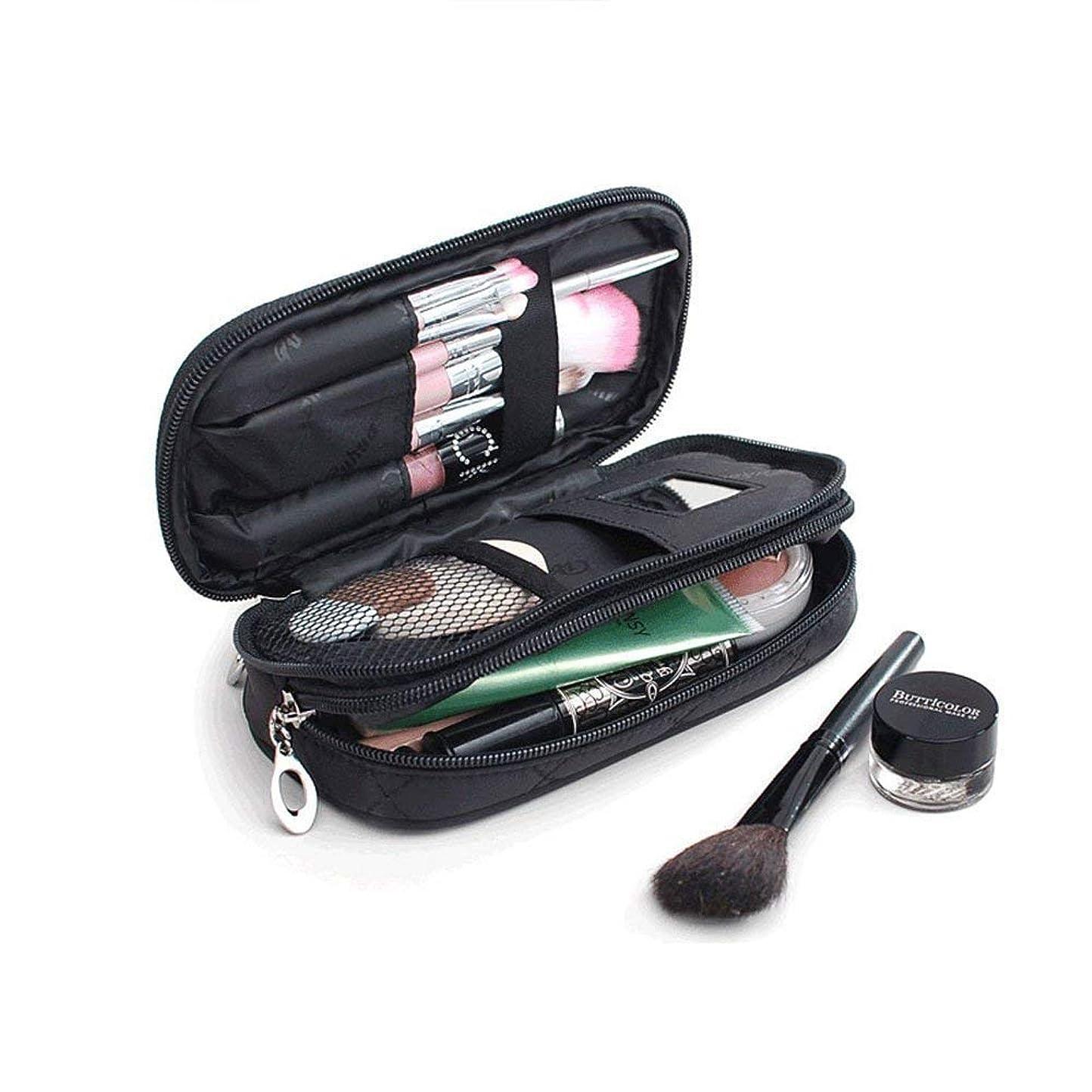 サントレード 化粧ポーチ 鏡付き メイクアップバッグ 化粧バッグ 小物入れ 収納 オーガナイザー