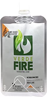 Fire Starter Gel - Instant Lighting Gel for Campfires, Barbecue, Emergency Survival | Non-Toxic, Smokeless & Natural - All Weather Fire Gel