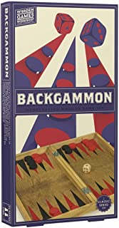 Professor Puzzle WOODEN BACKGAMMON Board Game - Traditional / Classic Wooden Family Board Game, Folding Design, Indoor/Out...