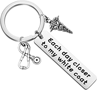 PLITI Nurse Keychain Medical Student Gifts Future Doctor Gifts Med School Student Graduation Gift Whitecoat Ceremony Gifts...