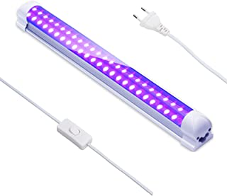 Eleganted 395nm 10W Tube LED Lumière Noire, 48Leds Barre de Lumières UV, Lumière DJ Disco, Black Light pour Halloween Noël...