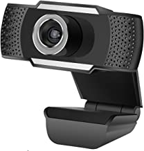 AQHQUA 720P Full HD Webcam with Microphone, USB Auto Focus Web Camera for Laptop Desktop Mac Streaming Video Calling Recording Video Conference Online Teaching - Plug & Play with Rotating Clip