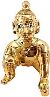 Vrindavan Bazaar Metal Laddu Gopal, Bal Gopal, Krishna Statue, Thakur ji-XS