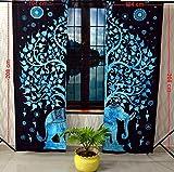 Sophia-Art - Juego de 2 paneles, diseño de elefante hippie para decoración del...