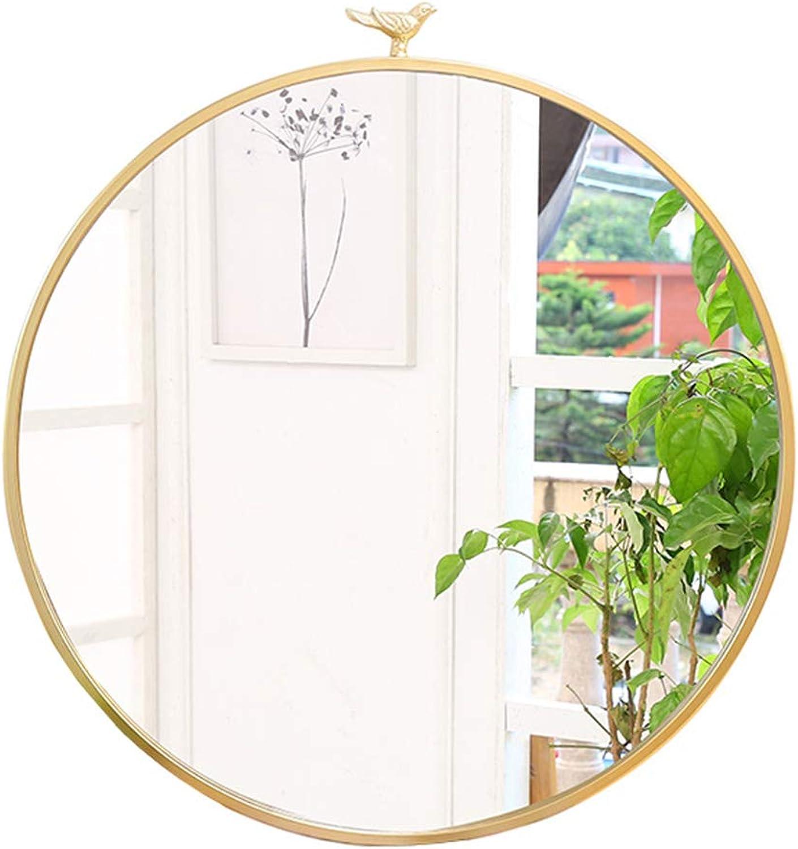 Large Modern Circle Metal Frame Wall Mirror   Floating Round Mirror   Vanity, Bedroom, or Bathroom Hanging Mirror   gold