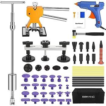 BBKANG Paintless Dent Repair Kit - Car Dent Removal Kit Golden Dent Lifter Bridge Dent Puller Kit Pop a Dent Tool for Auto Dent Door Ding Hail Dent Remover