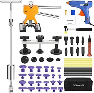 BBKANG Paintless Dent Repair Kit - Car Dent Removal Kit Golden Dent Lifter Bridge Dent Puller Kit Pop a Dent Tool for Auto Dent Door Ding Hail Dent Remover