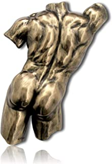 mySimpleProduct.Shop Nude Naked Broad Muscular Muscle Physique Male Torso Back Side Buttock Rear Thigh Leg Body Hanging Wall Plaque Statue Figurine Sculpture + Certificate