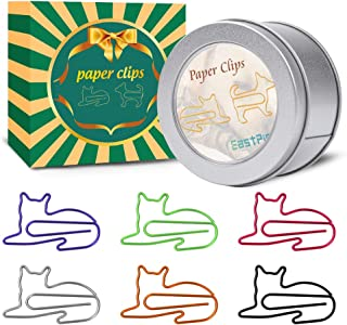 Cat Paper Clips - Cat Gifts for Cat Lovers - Great Birthday Gift for Teachers, Students, Kids, Coworkers - Cute Cat Office Supplies - Desk Accessories for Scrapbooks, Notebook (60Pcs)