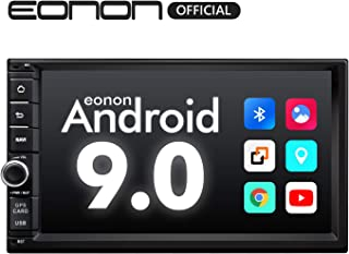 Double Din Car Stereo, Car Stereo with Bluetooth 5.0, Eonon7 Inch Android 9.0 Car Radio Support Android Auto/Apple Carplay/WiFi/Fast Boot/Backup Camera/OBDII- (NO DVD/CD)- GA2176