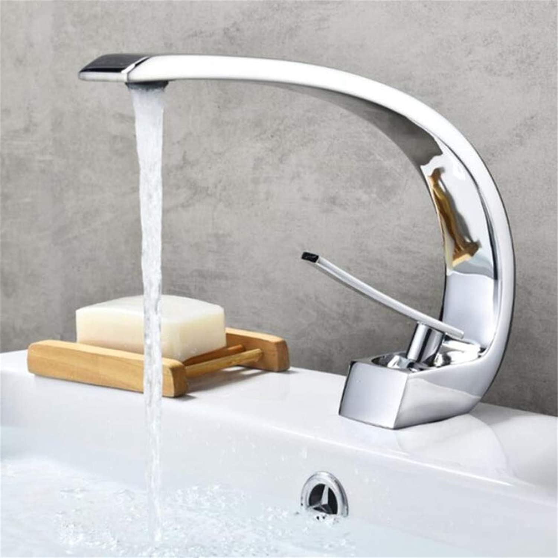 Faucets Basin Mixer Basin Faucet Modern Bathroom Mixer Tap Brass Wash Basin Faucet Single Handle Single Hole Elegant Crane for Bathroom Basin Tap