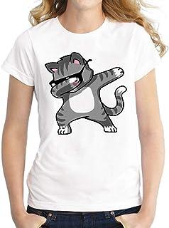MIOIM 半袖 レディース 丸ネック カットソー トップス 伸縮性 プリント Tシャツ 大きいサイズ おしゃれ 夏 通勤 通学 快適 普段着