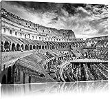 Kolosseum in Rom schwarz/weiß Format: 80x60 auf Leinwand,