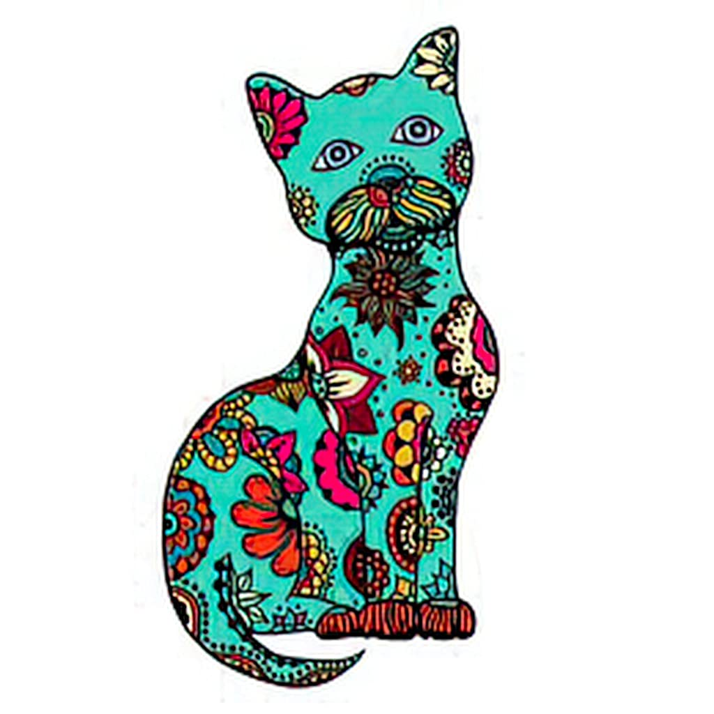 Temporary Tattoos 6 Gorgeous Sheets Cute Doodle Hand Cat Drawn with Max 85% OFF Ornam