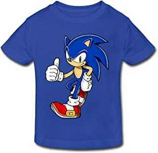 Toddler's 100% Cotton Cool Sonic The Hedgehog Style T-Shirt