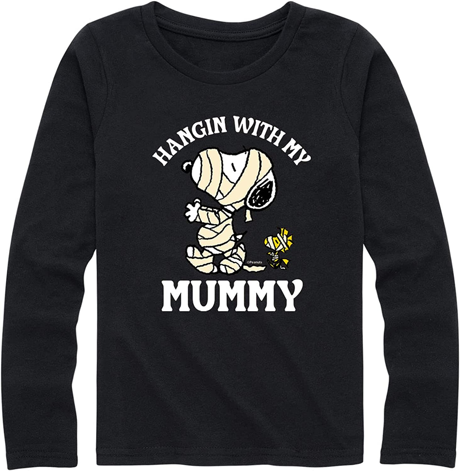 Peanuts - Hanging with My Mummy - Youth Girls Long Sleeve Graphic T-Shirt