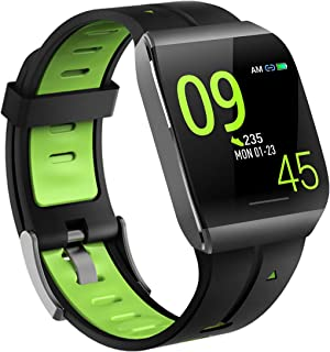 Pard 2019 Super Waterproof Smart Watch, Sport Wristband with ECG, Heart Rate and Sleep Health Monitor, Fitness Tracker for Women Men and Kids, Green