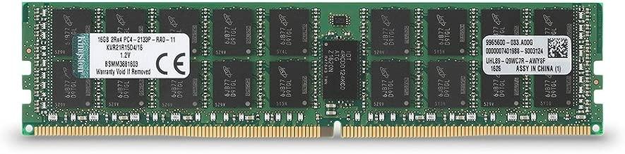 Kingston ValueRAM 16GB RAM 2133MHz DDR4 ECC Reg CL15 DIMM DR x 4 with TS Server Memory (KVR21R15D4/16)