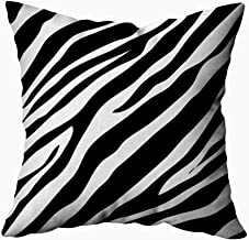 ROOLAYS Decorative Throw Square Pillow Case Cover 18X18Inch,Cotton Cushion Covers Zebra Animal Print Pattern Image Illustration Both Sides Printing Invisible Zipper Home Sofa Decor Pillowcase