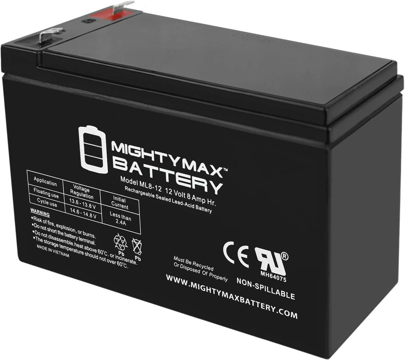 Mighty Max Battery 12V 8AH SLA OFFicial Cam Max 71% OFF Stealth for Replacement Batte