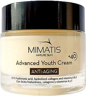 Crema Hidratante Antiarrugas Mujer Piel Madura +40 con Retinol Ácido Hialurónico Colágeno y Extractos Naturales -Reafirm...
