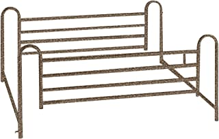 Drive Medical Deluxe Full Length Hospital Bed Side Rails, Brown Vein