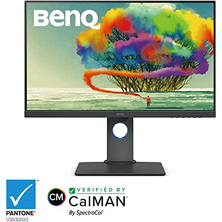 BenQ PD2700U 27 inch 4K Monitor for Designers 3840x2160 UHD IPS panel with AQCOLOR 100% Rec.709, sRGB; Factory-calibrated; DualView, Eye-care, Anti-Glare, Gray